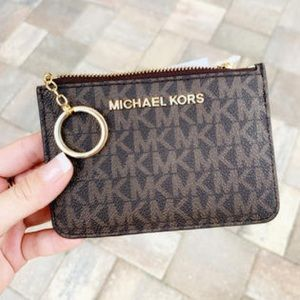 NWT Michael Kors Key Ring Zip Coin Pouch